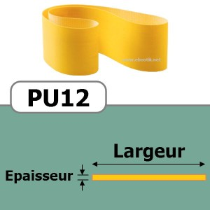 COURROIE PLATE PU12/310x15 mm