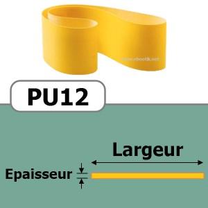 COURROIE PLATE PU12/350x15 mm