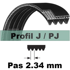 COURROIE STRIEE 97J4 dents PU