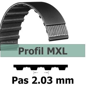 COURROIE DENTEE 65MXL025 PAS 2.032 mm / LARGEUR 6.35 mm