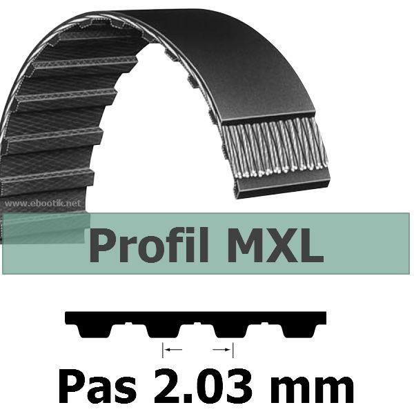 COURROIE DENTEE 74MXL025 PAS 2.032 mm / LARGEUR 6.35 mm