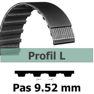 COURROIE DENTEE 124L075 PAS 9.52 mm / LARGEUR 19.05 mm
