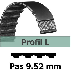 COURROIE DENTEE 124L100 PAS 9.52 mm / LARGEUR 25.4 mm