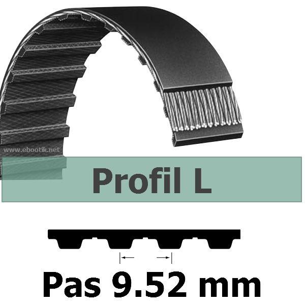 COURROIE DENTEE 252L075 PAS 9.52 mm / LARGEUR 19.05 mm