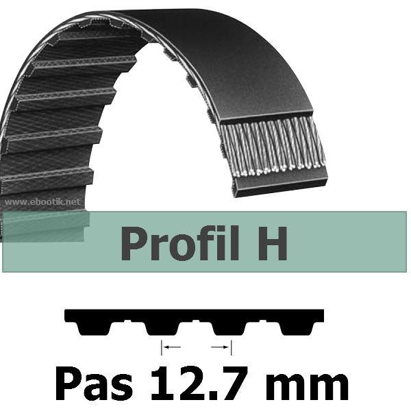 COURROIE DENTEE 185H150 PAS 12.7 mm / LARGEUR 38.10 mm