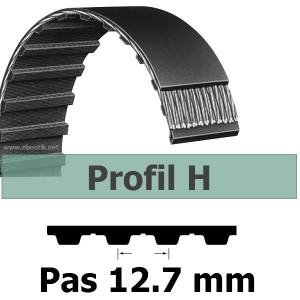 COURROIE DENTEE 270H100 PAS 12.7 mm / LARGEUR 25.4 mm