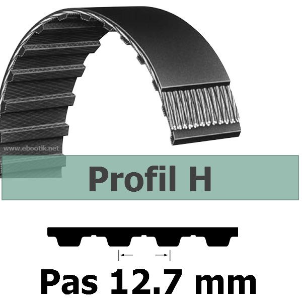 COURROIE DENTEE 340H100 PAS 12.7 mm / LARGEUR 25.4 mm