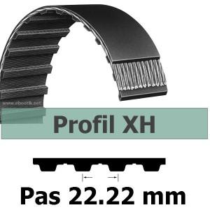COURROIE DENTEE 735XH500 PAS 22.22 mm / LARGEUR 127 mm