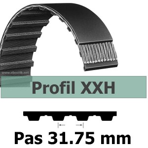 COURROIE DENTEE 1400XXH400 PAS 31.75 mm / LARGEUR 101.6 mm