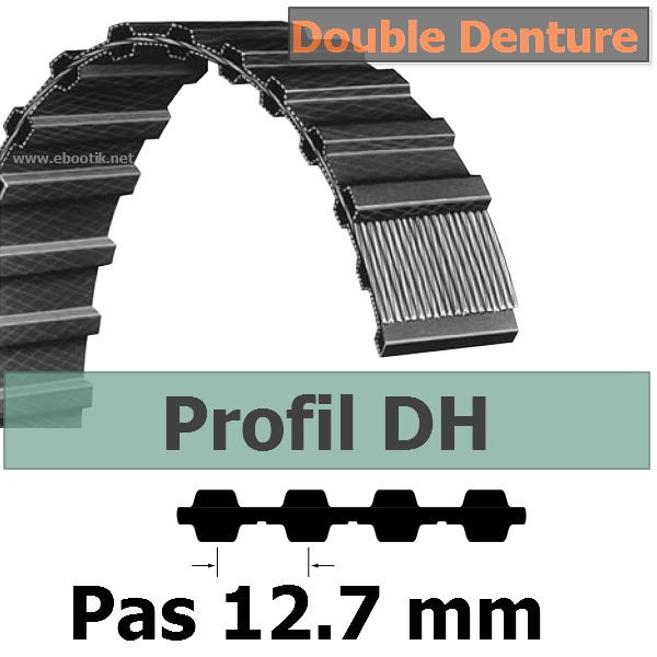 240H100 DOUBLE DENTURE LARGEUR 25.4 mm