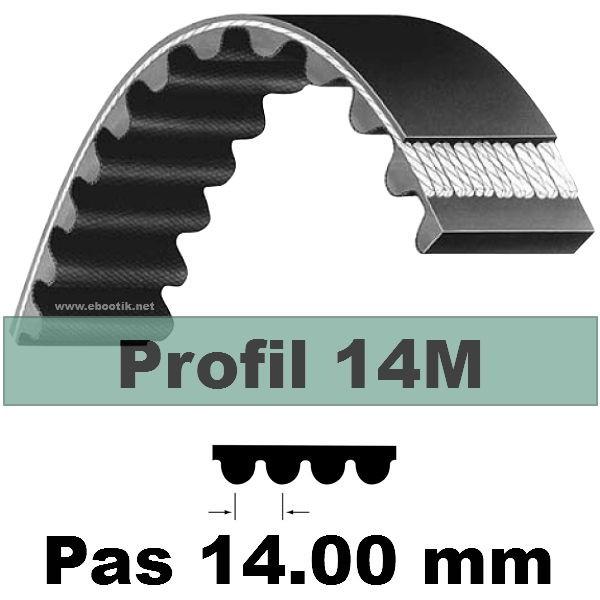 COURROIE CRANTEE HTD NEOPRENE 1400 14M 85