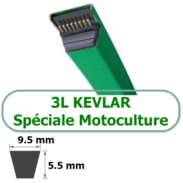 COURROIE TRAPEZOIDALE KEVLAR 3L450