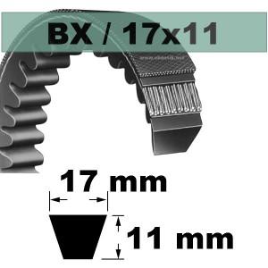 COURROIE TRAPEZOIDALE CRANTEE BX32