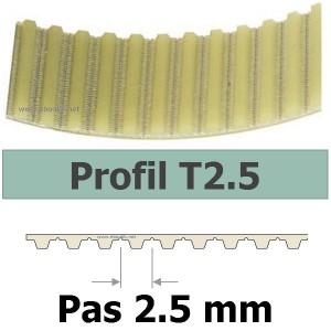 COURROIE CRANTEE 285T2,5/6 mm