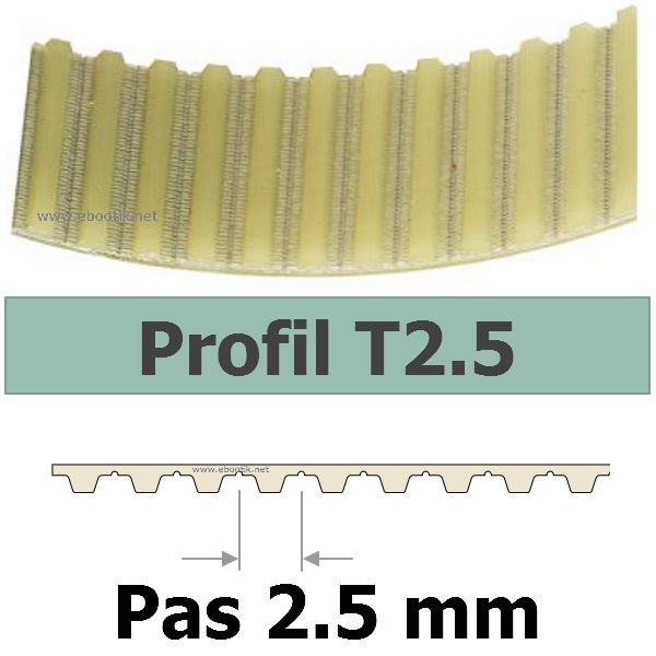 COURROIE CRANTEE 330T2,5/6 mm