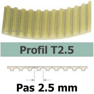 COURROIE CRANTEE 480T2,5/6 mm