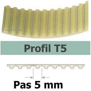 COURROIE CRANTEE 1100T5/25 mm