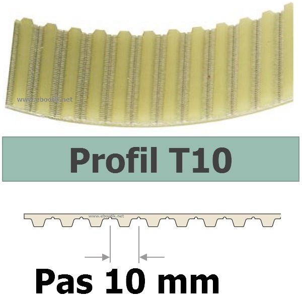 COURROIE CRANTEE 370T10/16 mm