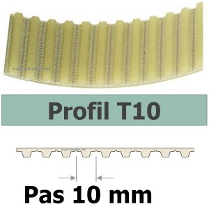 COURROIE CRANTEE 370T10/25 mm