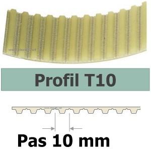 COURROIE CRANTEE 370T10/50 mm