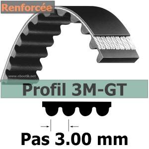 COURROIE DENTEE HTD RENFORCEE 3MGT399-12 mm GT3