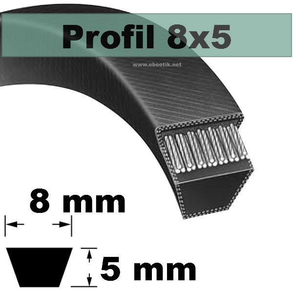COURROIE TRAPEZOIDALE 8x5x490