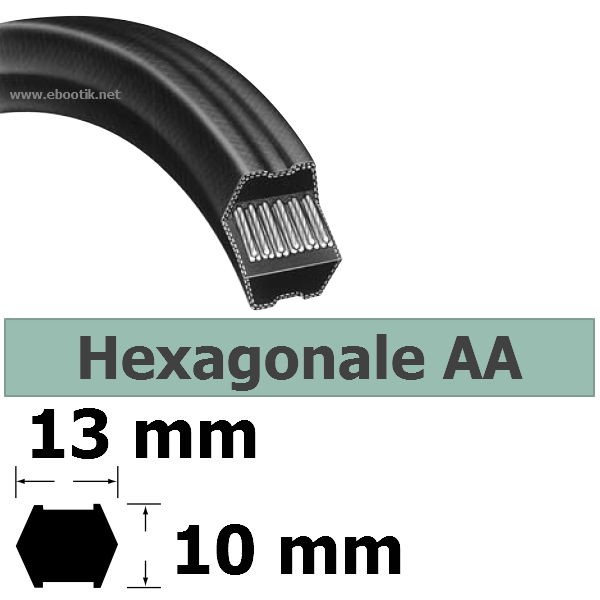COURROIE HEXAGONALE AA128