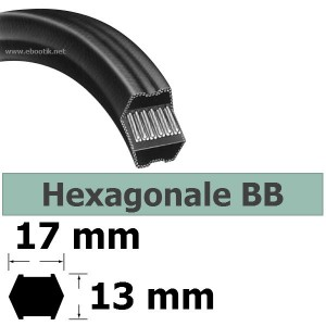 COURROIE HEXAGONALE BB107