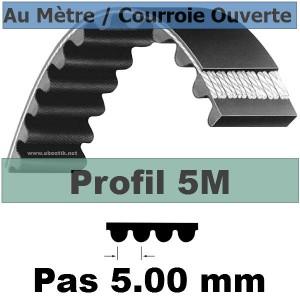 Courroie Crantée/Linéaire 5M12 mm Fibre Verre Vendue au mètre