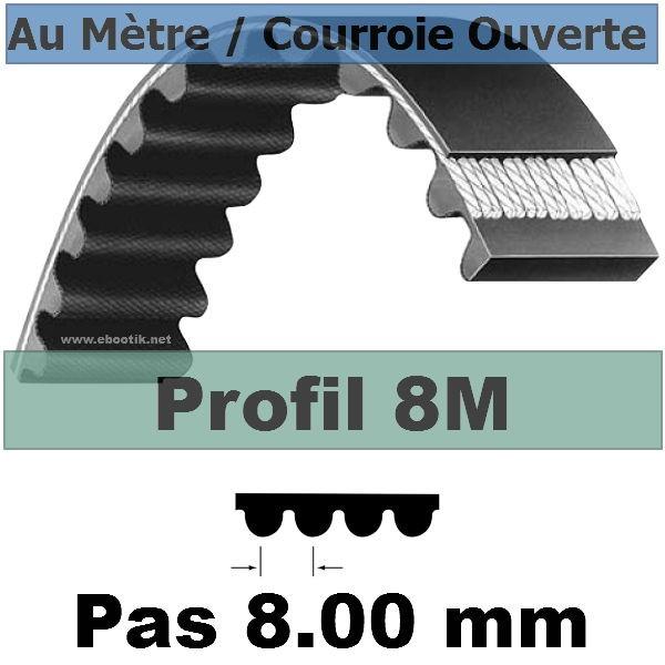 Courroie Crantée/Linéaire 8M10 mm Fibre Verre Vendue au mètre