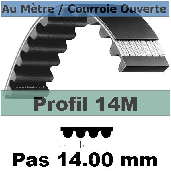 Courroie Crantée/Linéaire 14M40 mm Fibre Verre Vendue au mètre