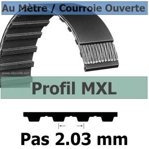 Courroie Crantée/Linéaire MXL037 / 9.52 mm Fibre Verre Vendue au mètre
