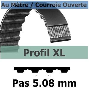 Courroie Crantée/Linéaire XL025 / 6.35 mm Fibre Verre Vendue au mètre