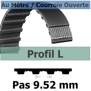 Courroie Crantée/Linéaire L050 / 12.70 mm Fibre Verre Vendue au mètre