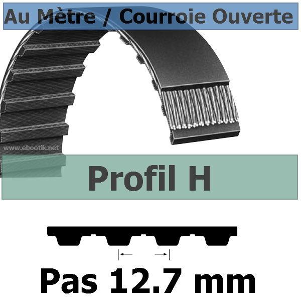 Courroie Crantée/Linéaire H075 / 19.05 mm Fibre Verre Vendue au mètre