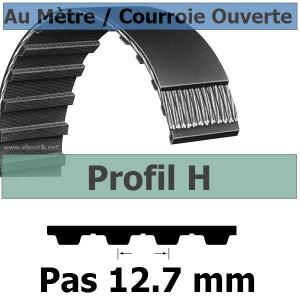 Courroie Crantée/Linéaire H100 / 25.40 mm Fibre Verre Vendue au mètre