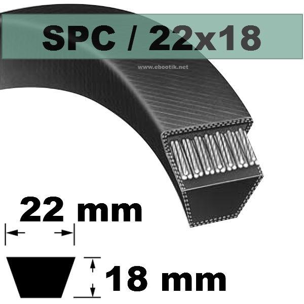 COURROIE TRAPEZOIDALE SPC2360