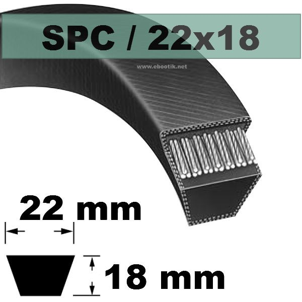 COURROIE TRAPEZOIDALE SPC4500