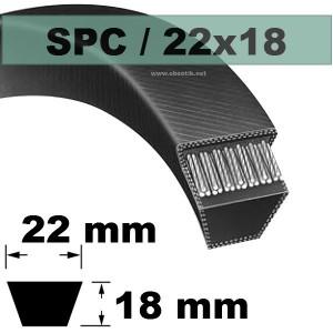 COURROIE TRAPEZOIDALE SPC4750