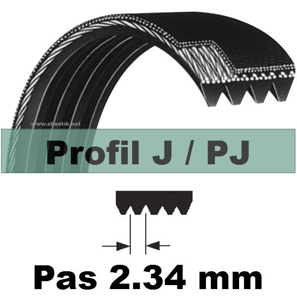 COURROIE STRIEE POLY-V 610PJ5 DENTS BET