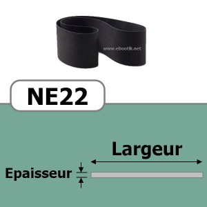 COURROIE PLATE NE22/430x15 mm