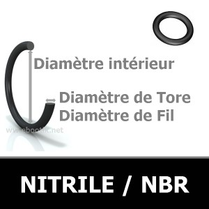 133.02x2.62 JOINT TORIQUE NBR 90 SHORES AS160