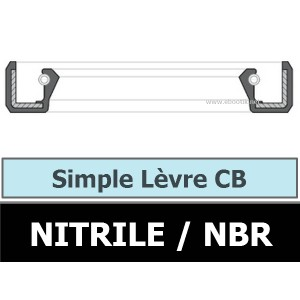 JOINT 6.35X15.87X4.76 CB / SIMPLE LEVRE NBR