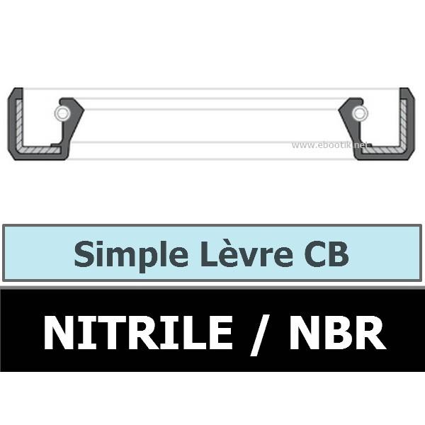 JOINT 12.40X25.40X6.35 CB / SIMPLE LEVRE NBR