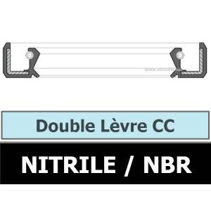 JOINT 22X45X8 CC / DOUBLE LEVRE NBR