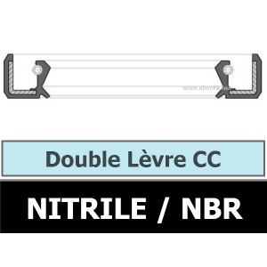 JOINT 22X45X9 CC / DOUBLE LEVRE NBR
