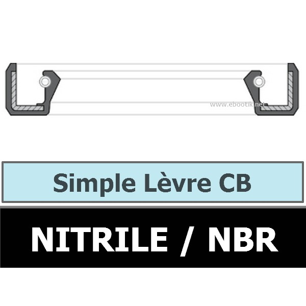 JOINT 40X52X8 CB / SIMPLE LEVRE NBR