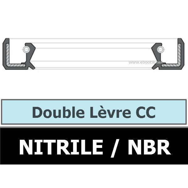 JOINT 42X62X7 CC / DOUBLE LEVRE NBR