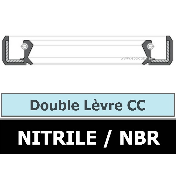 JOINT 42X62X9 CC / DOUBLE LEVRE NBR
