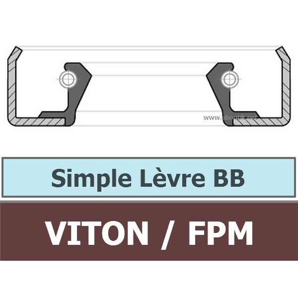 9.53X19.05X6.35 BB FPM/VITON